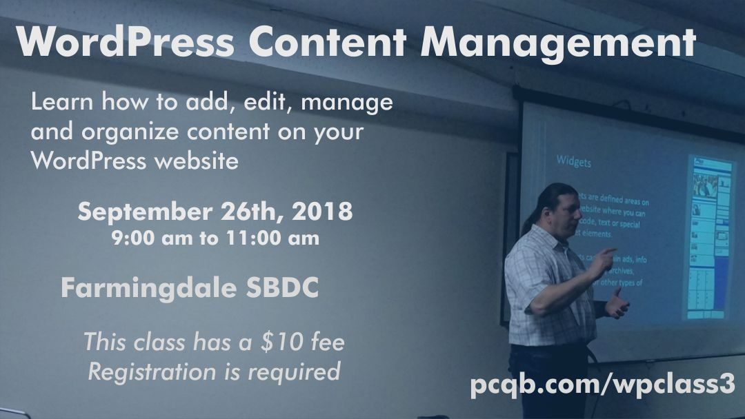WordPress Content Management Class – Farmingdale SBDC