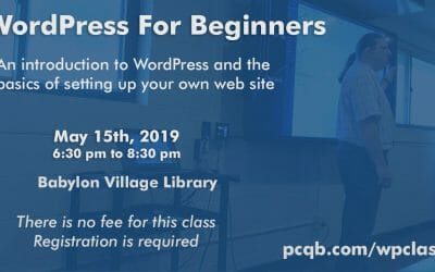 WordPress For Beginners Class – Babylon Village Library