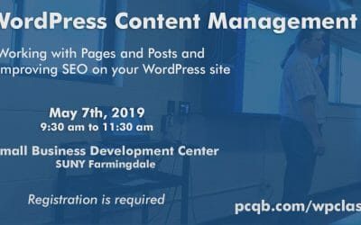 WordPress Content Management Class – Working With Pages and Posts