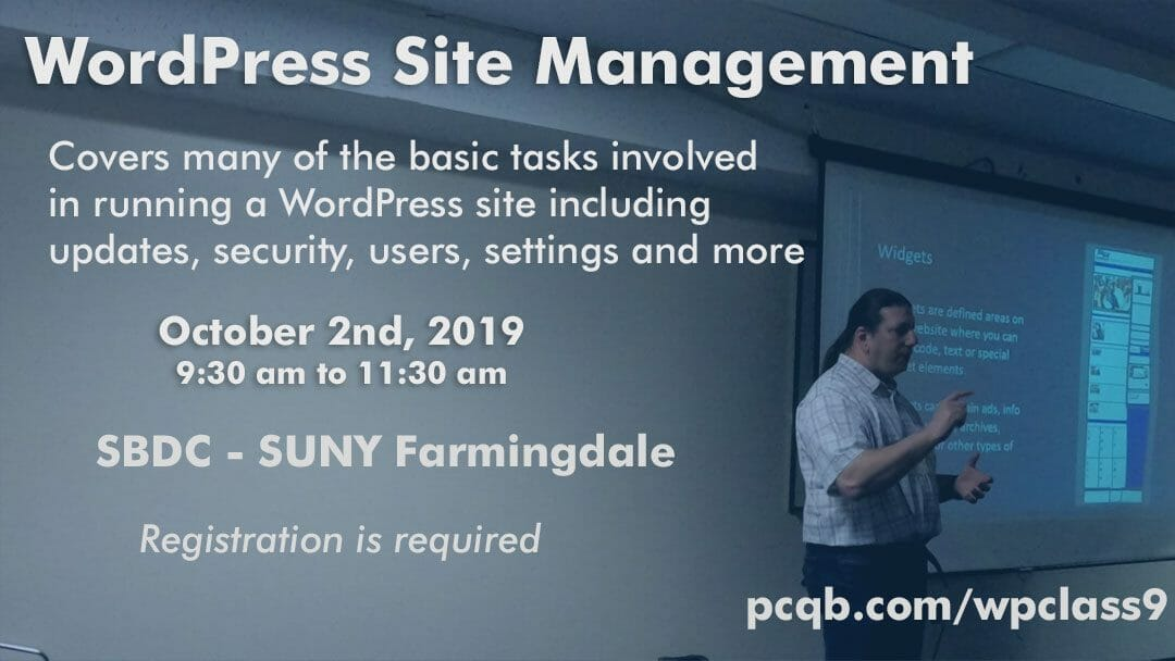 WordPress Site Management Class – Understanding Basic Back-End Tasks